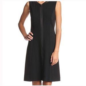 Tahari Tristen black midi dress